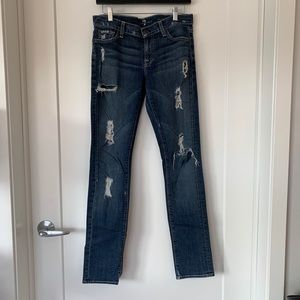 7 For All Mankind Roxanne Distressed Skinny Jean